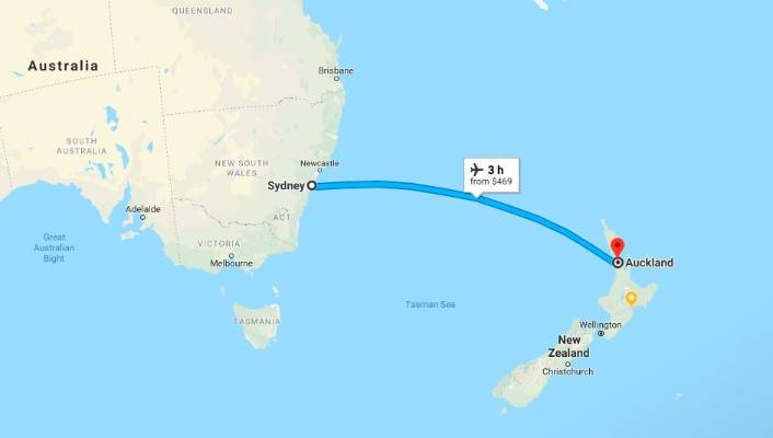 New Zealand Map Google.Tourist Ridiculed Online For Asking How To Drive From Sydney To New